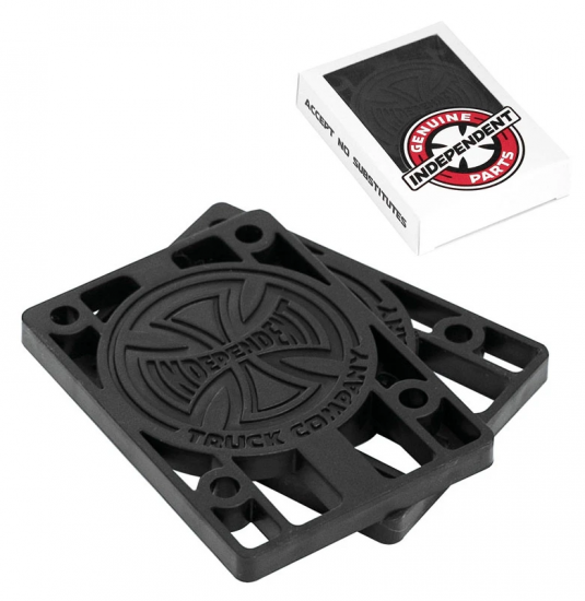 """Independent 1/8"""" Risers, Black"""