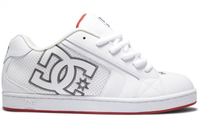 DC Shoes Net Shoe, White Red
