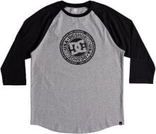 DC Shoes Research 3/4 Sleeve Tee, Black Grey