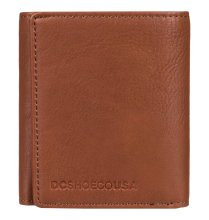 DC Shoes Side Note Tri-Fold Wallet, Coffee Bean
