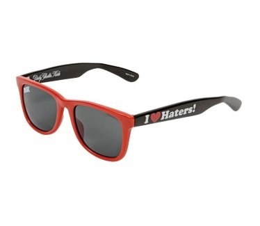 DGK Haters 2-Tone Shades, Red Black