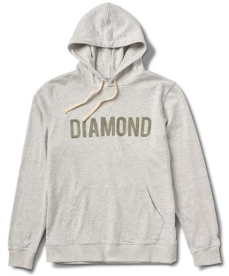 Diamond Supply Co French Terry Hoodie, Heather Ash