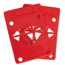 """Diamond Supply Co Rise and Shine 1/8"""" Risers, Red"""