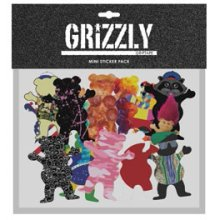 Grizzly Assorted Mini Sticker Pack