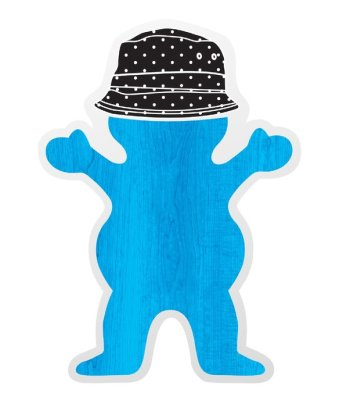 Grizzly Boo Johnson Sticker