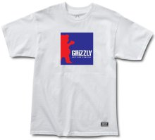 Grizzly Boxed Out Tee, White