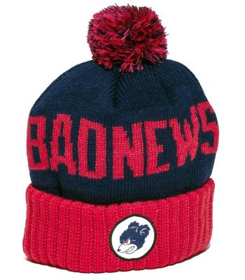 Grizzly Down and Dirty Pom Beanie, Red