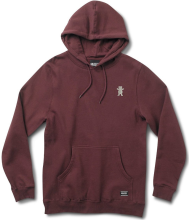 Grizzly OG Bear Embroidered Hoodie, Burgundy White