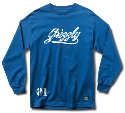 Grizzly Western Division LS Tee, Royal