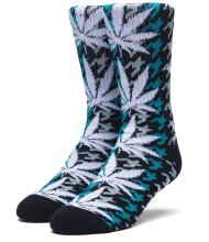 HUF Houndstooth PL Crew Sock, Tropical Green