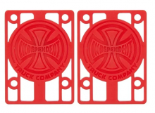 """Independent 1/8"""" Risers, Red"""