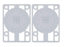 """Independent 1/8"""" Risers, White"""