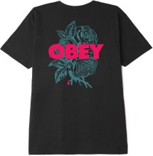 OBEY Blood and Roses Tee, Black