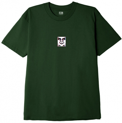 OBEY Double Vision Tee, Forest Green