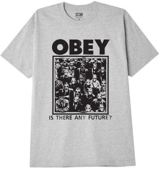 OBEY Is There Any Future Tee, Heather Grey