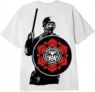 OBEY Riot Cop Peace Shield Tee, White