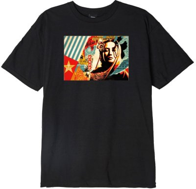 OBEY Welcome Visitor Tee, Black