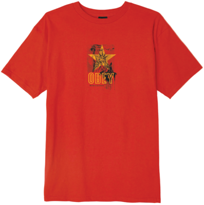 OBEY With Caution Tee, Red