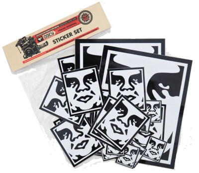 OBEY Icon Face Assorted Sticker Pack