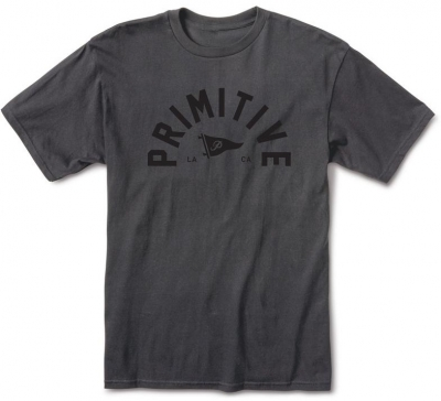 Primitive Big Arch Pennant Light Weight Tee, Dark Charcoal