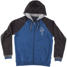 RDS 3D Chung Raglan Zip Hoodie, Royal Heather Dark Heather