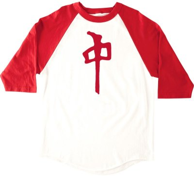 RDS Chung Banger 3/4 Sleeve Tee, White Red