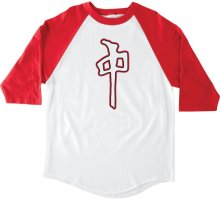 RDS Grande 3/4 Sleeve Tee, White Red