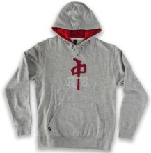 RDS OG Chenille Hoodie, Heather Grey Deep Red