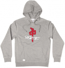 RDS Signature Chenille Hoodie, Athletic Grey Red