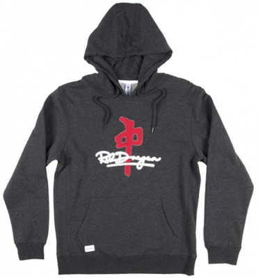 RDS Signature Chenille Hoodie, Charcoal Red