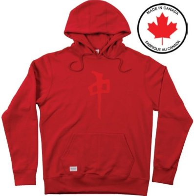 RDS Twill Chung Hoodie, Red