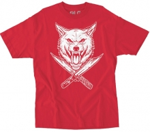 RDS x Wolfknives Wolf Tee, Red