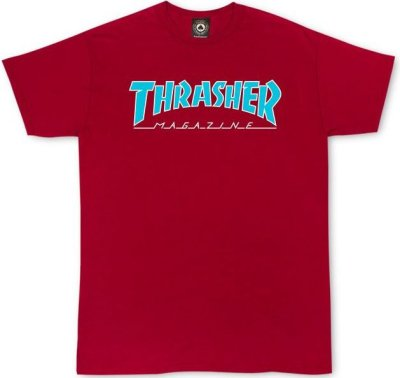 Thrasher Skate Mag Outlined Tee, Cardinal Red